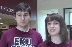 Two EKU students smiling